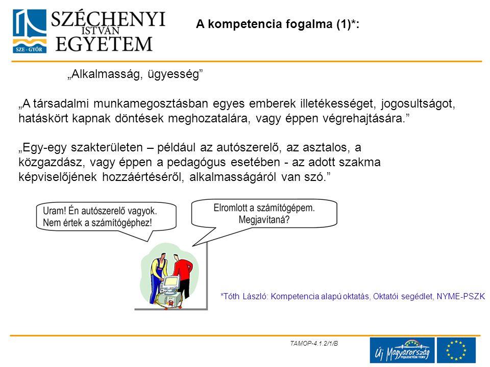 A kompetencia fogalma (1)*: