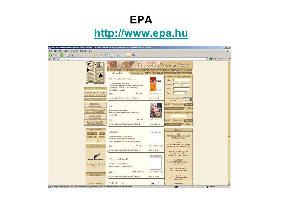 EPA http://www.epa.hu