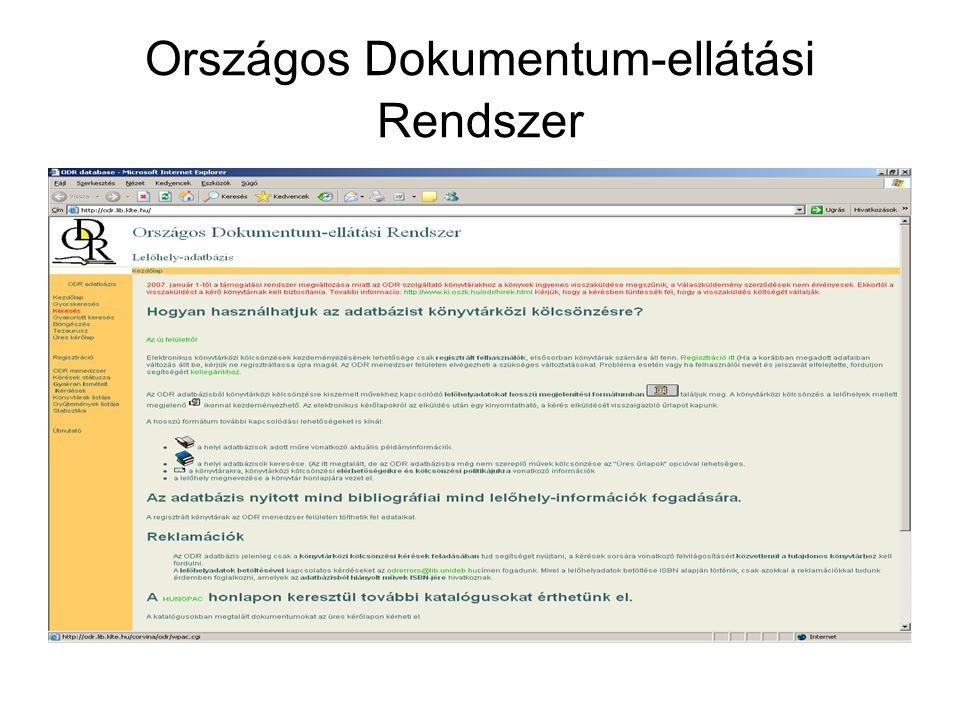 Országos Dokumentum-ellátási Rendszer