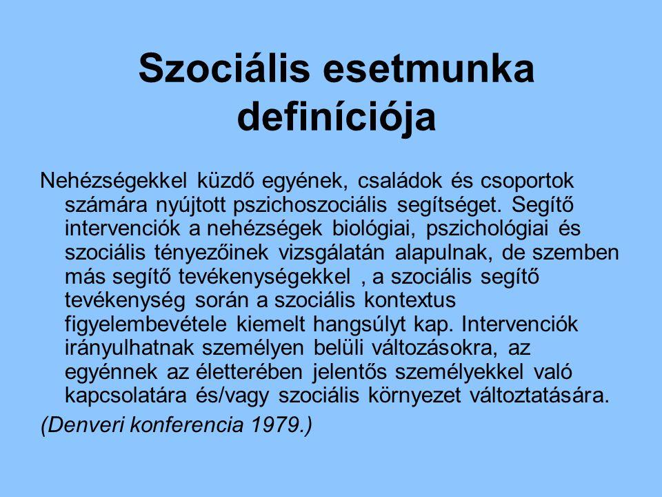Szociális esetmunka definíciója