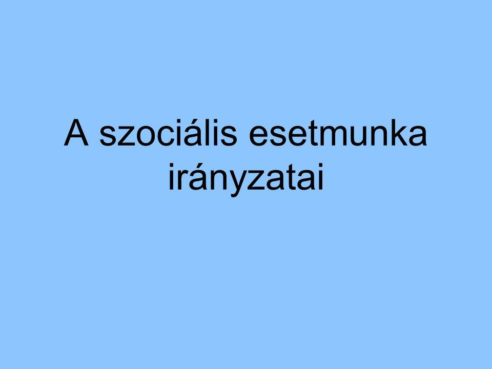 A szociális esetmunka irányzatai