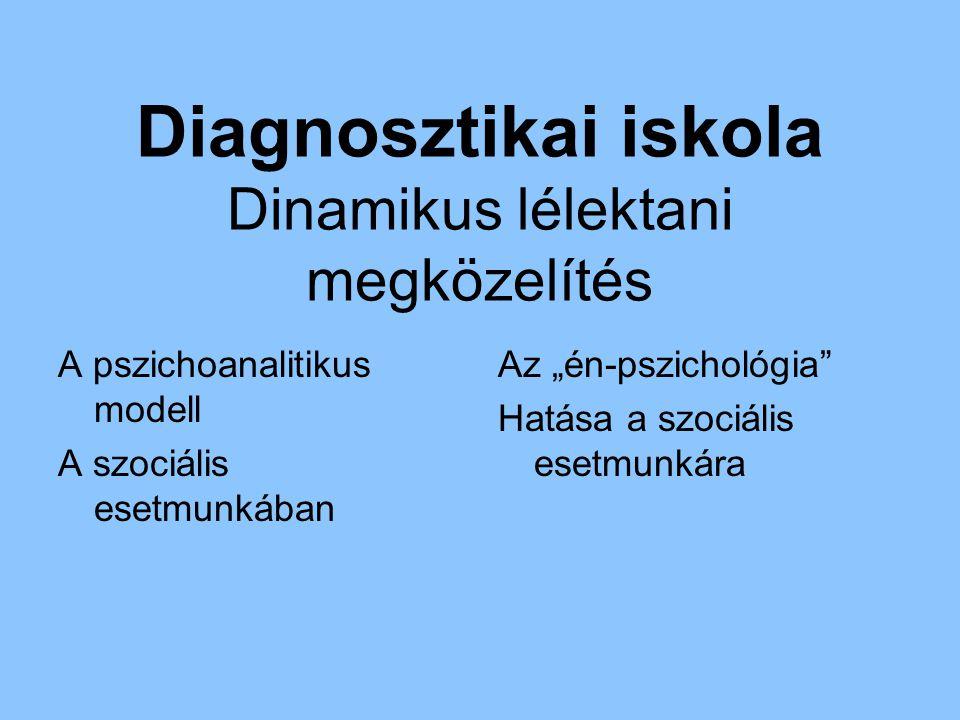 Diagnosztikai iskola Dinamikus lélektani megközelítés