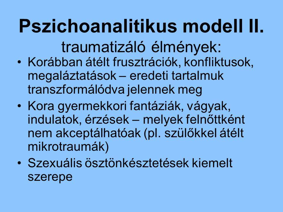 Pszichoanalitikus modell II. traumatizáló élmények: