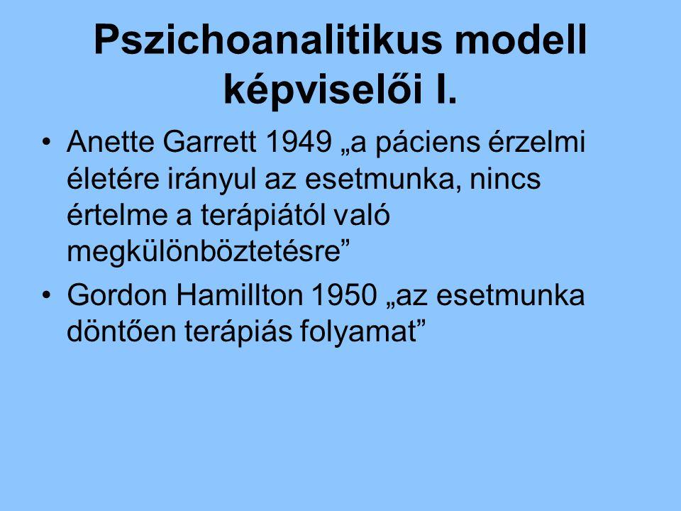 Pszichoanalitikus modell képviselői I.
