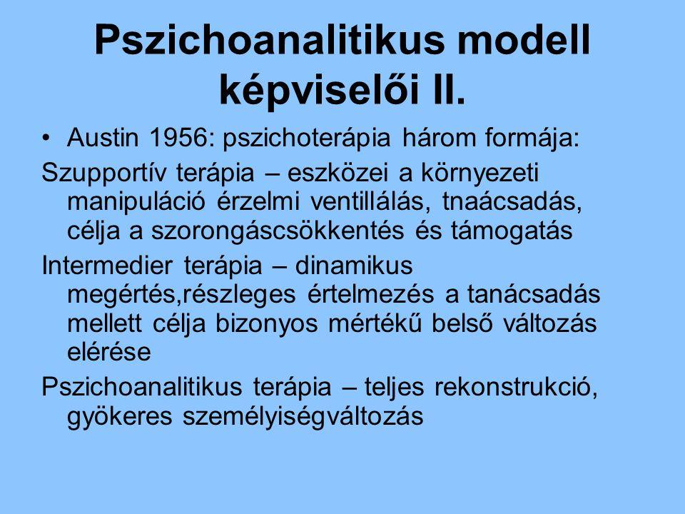 Pszichoanalitikus modell képviselői II.