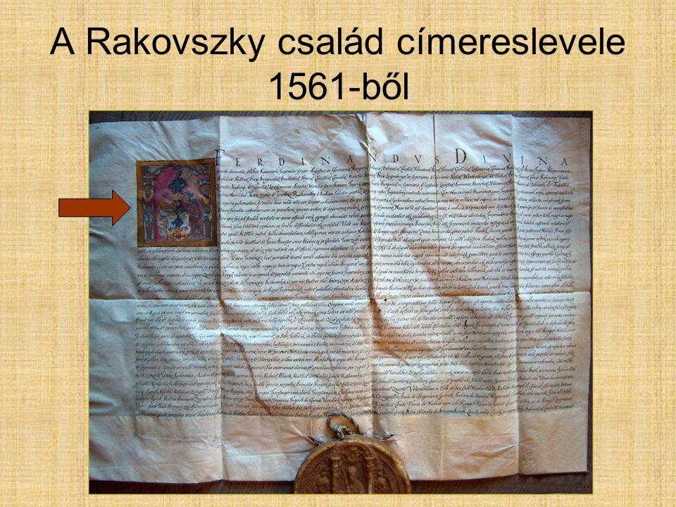 A Rakovszky család címereslevele 1561-ből