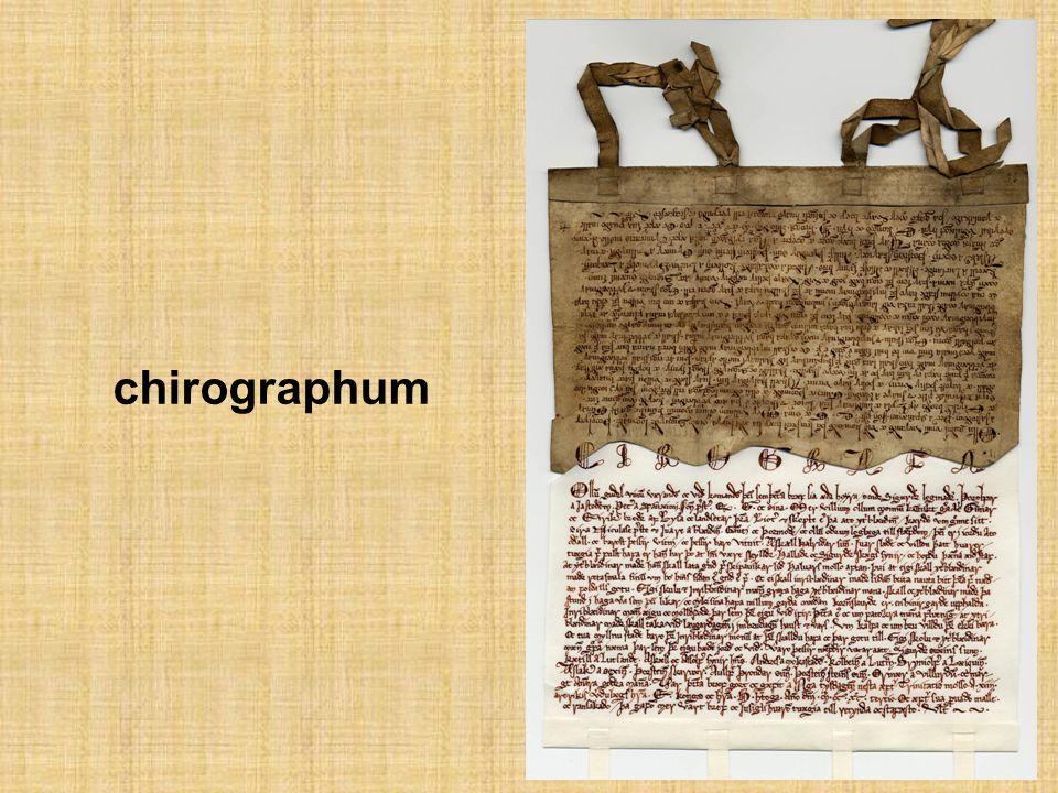 chirographum