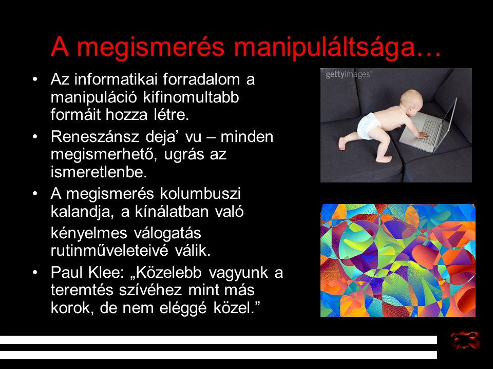 A megismerés manipuláltsága…
