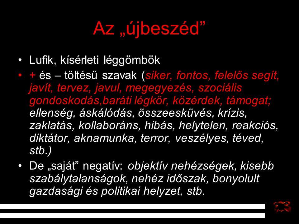 """Az """"újbeszéd Lufik, kísérleti léggömbök"""