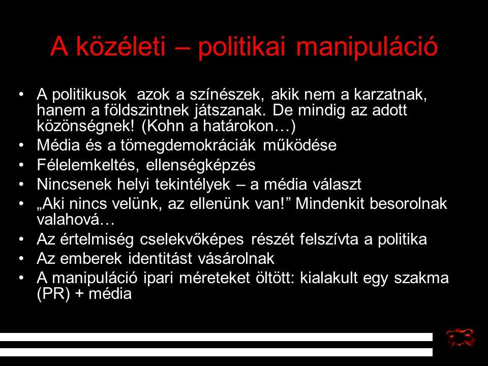 A közéleti – politikai manipuláció