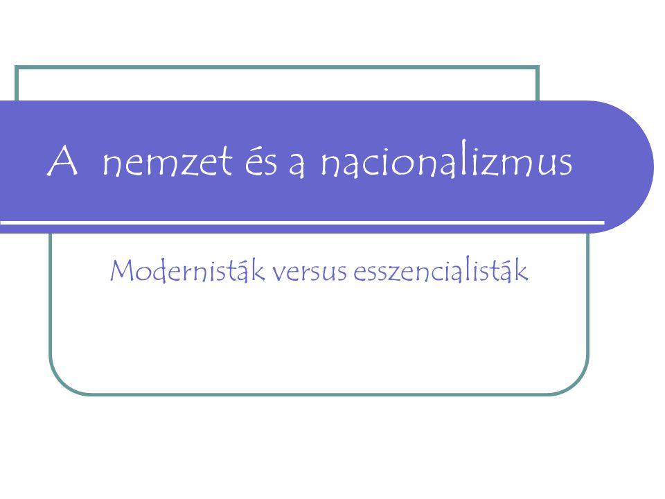 A nemzet és a nacionalizmus