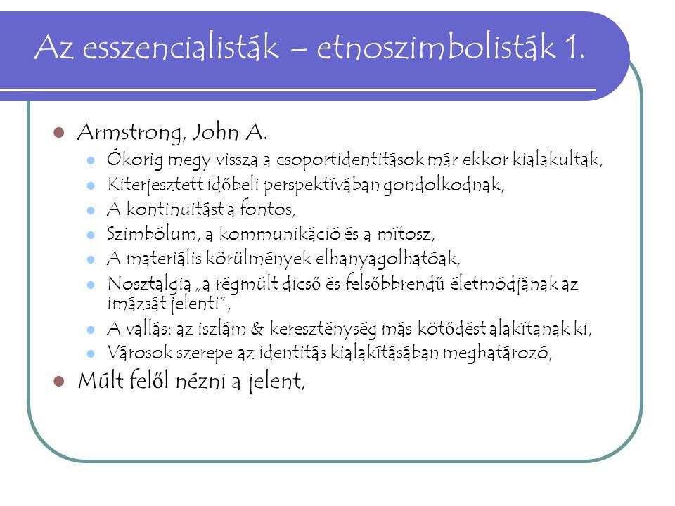 Az esszencialisták – etnoszimbolisták 1.