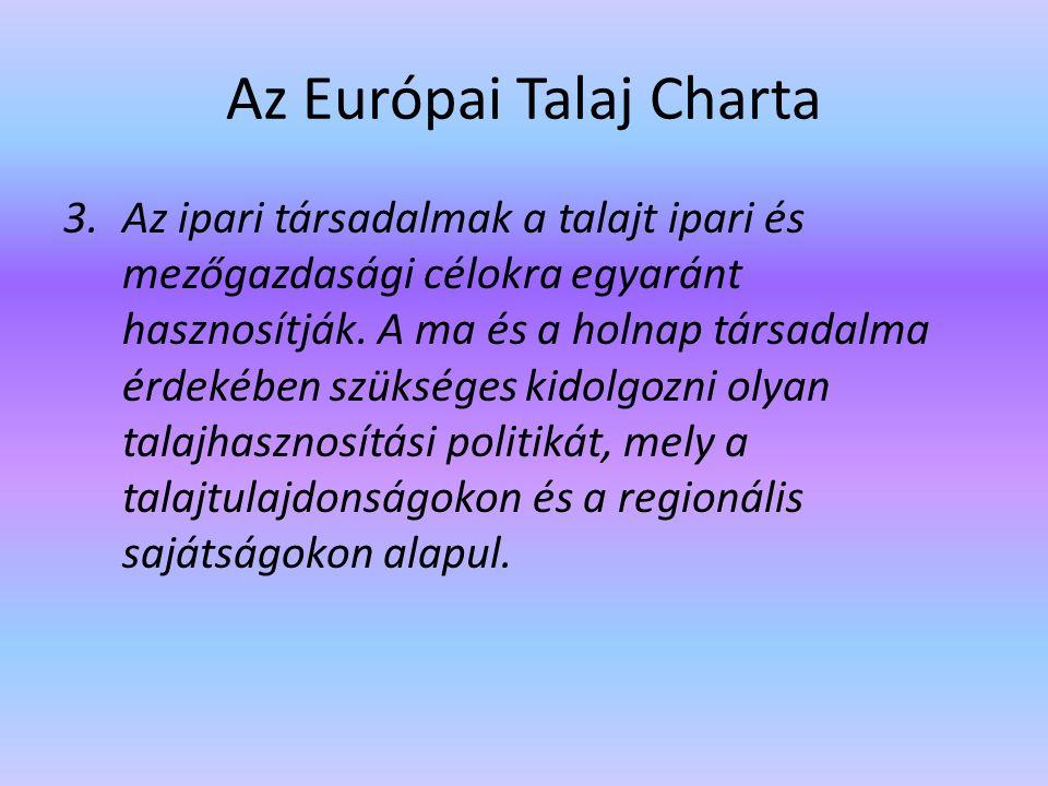 Az Európai Talaj Charta