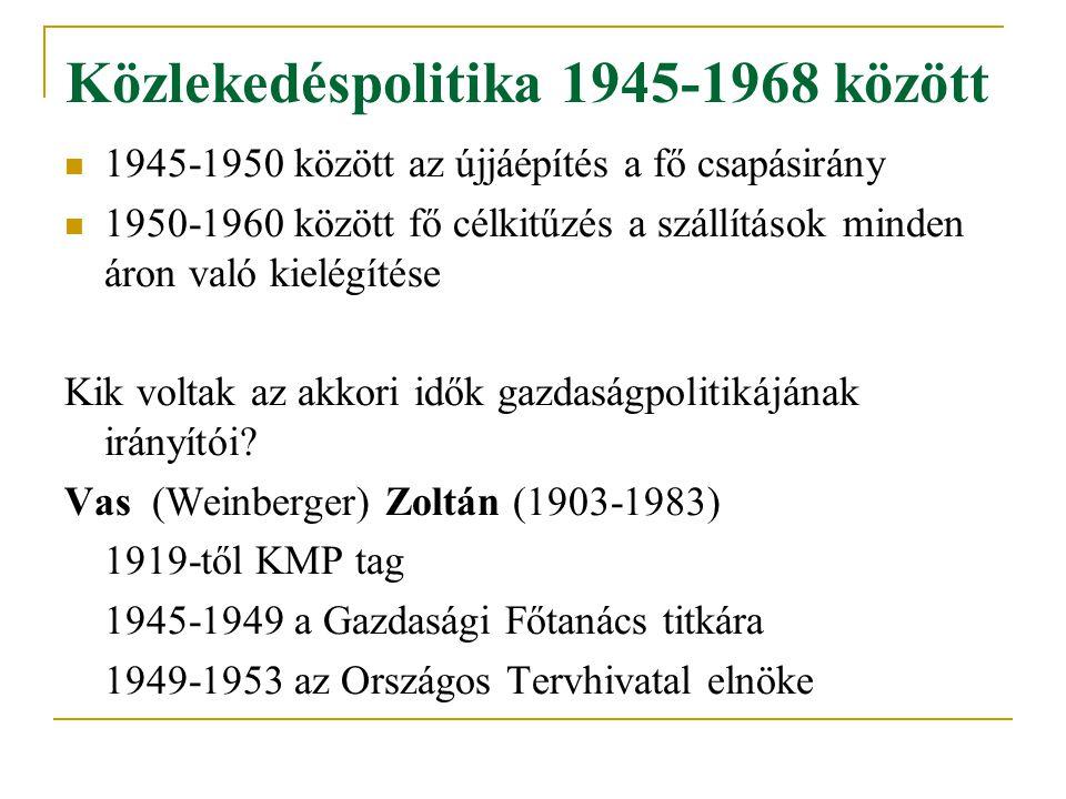 Közlekedéspolitika 1945-1968 között