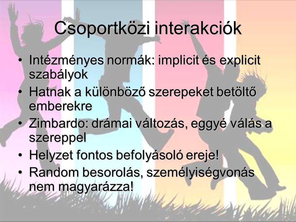 Csoportközi interakciók