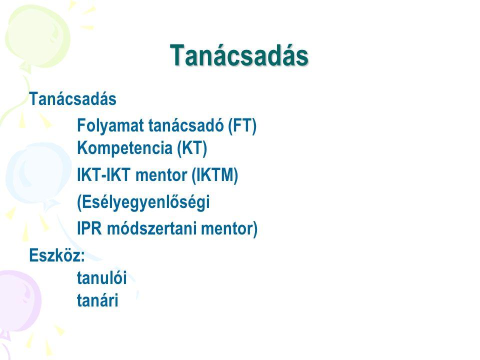 Tanácsadás Tanácsadás Folyamat tanácsadó (FT) Kompetencia (KT)