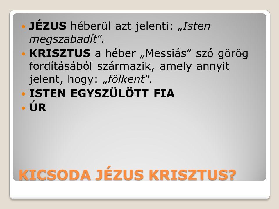 KICSODA JÉZUS KRISZTUS