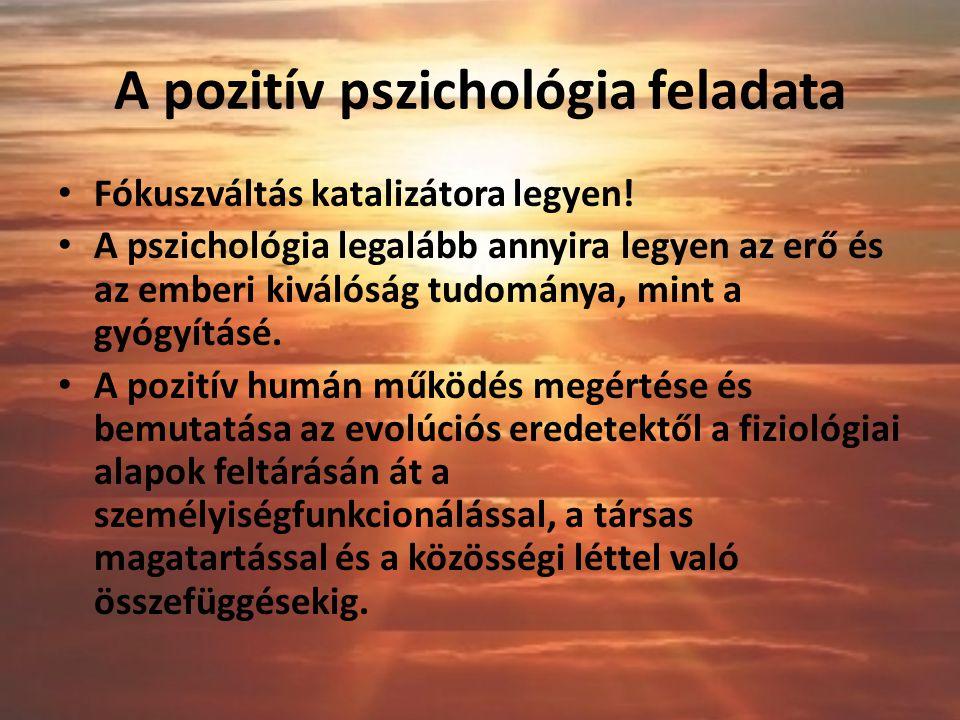 A pozitív pszichológia feladata