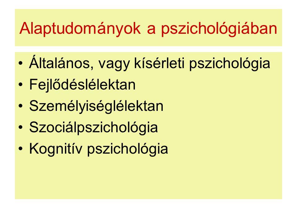 Alaptudományok a pszichológiában