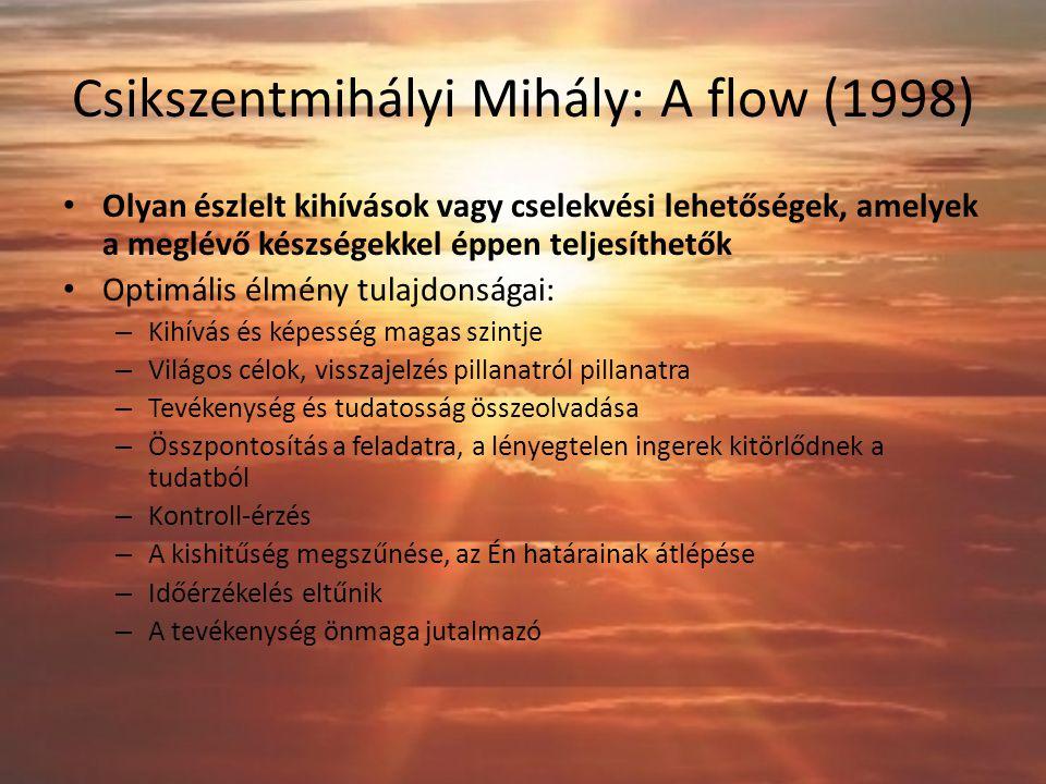 Csikszentmihályi Mihály: A flow (1998)