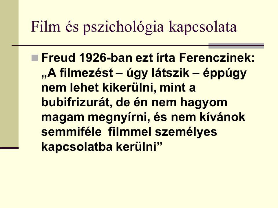 Film és pszichológia kapcsolata