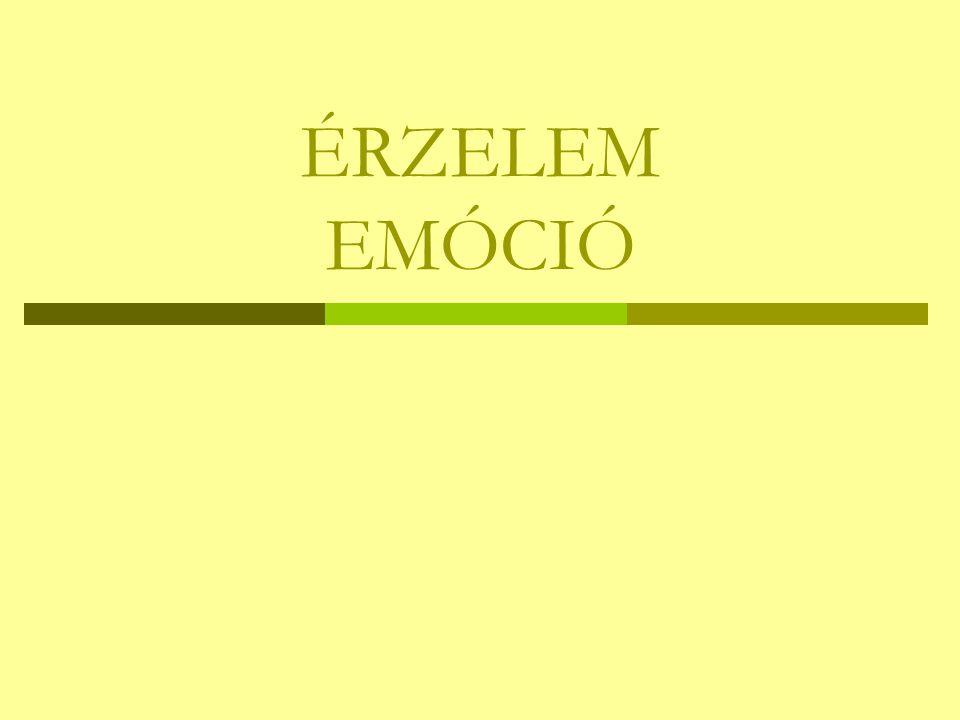 ÉRZELEM EMÓCIÓ