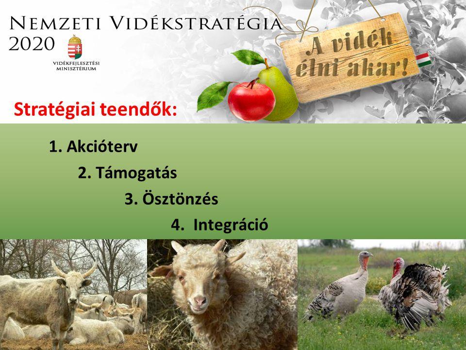 1. Akcióterv 2. Támogatás 3. Ösztönzés 4. Integráció