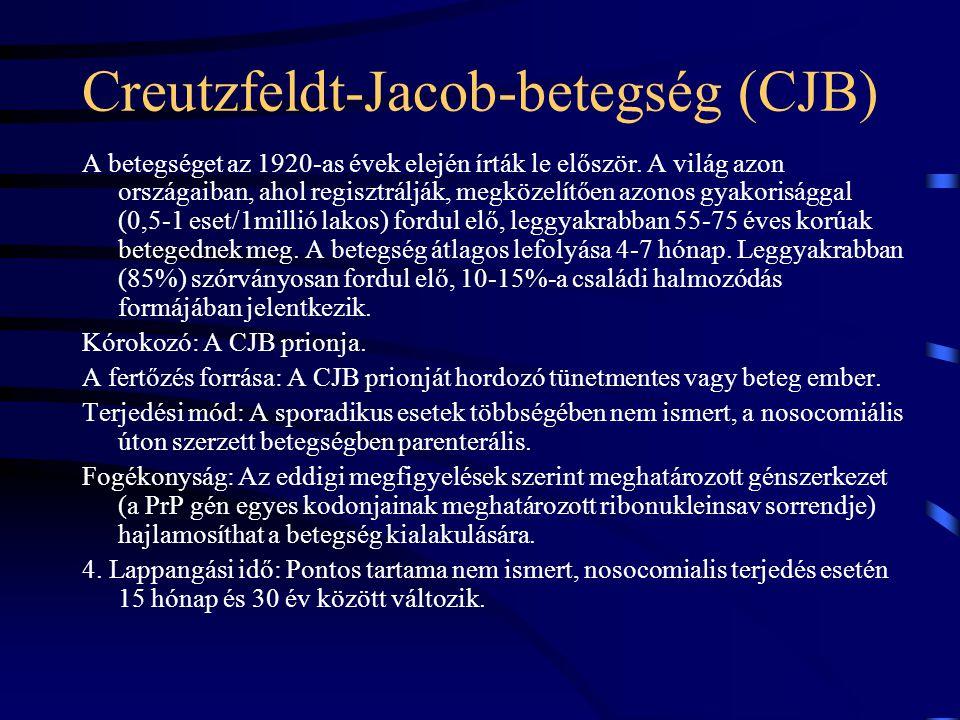 Creutzfeldt-Jacob-betegség (CJB)