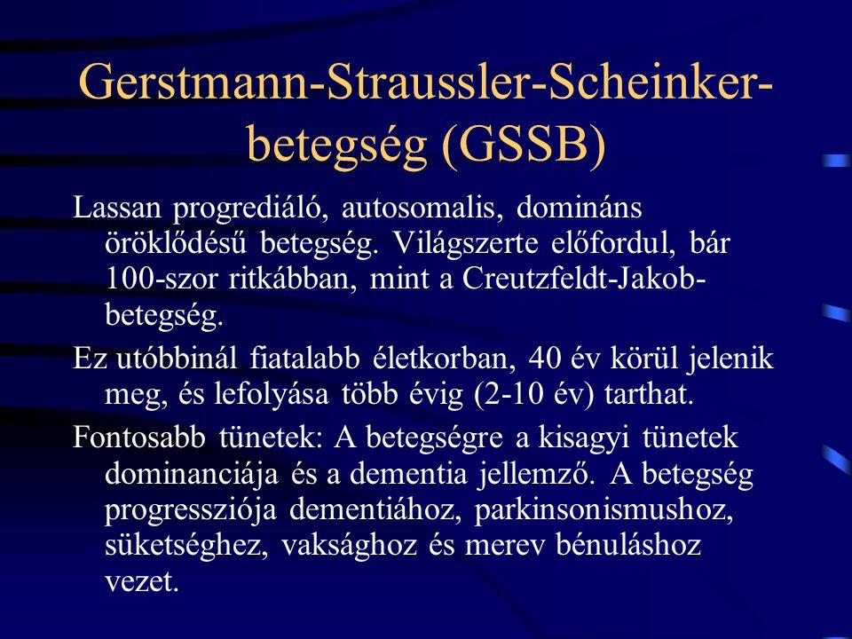 Gerstmann-Straussler-Scheinker-betegség (GSSB)