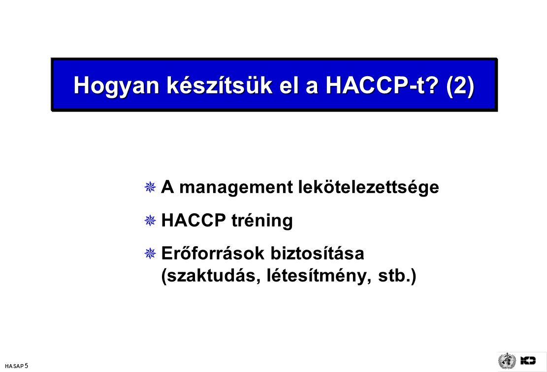 Hogyan készítsük el a HACCP-t (2)