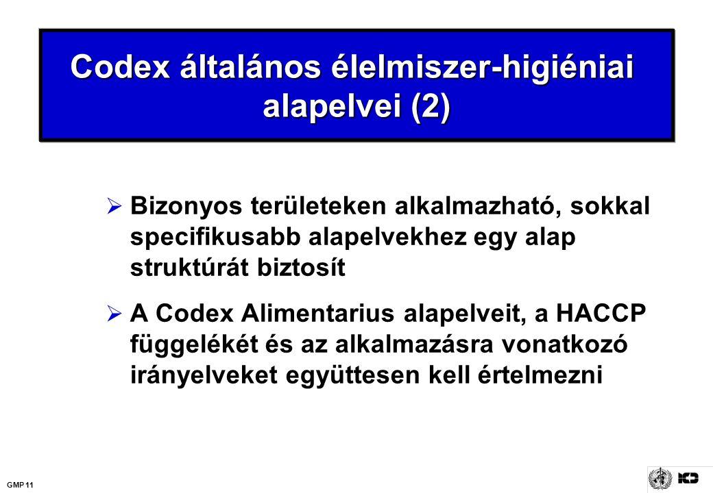 Codex általános élelmiszer-higiéniai alapelvei (2)