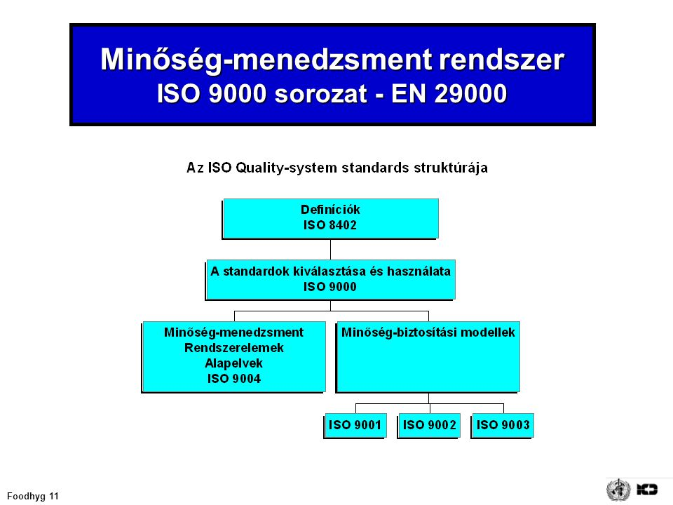Minőség-menedzsment rendszer ISO 9000 sorozat - EN 29000