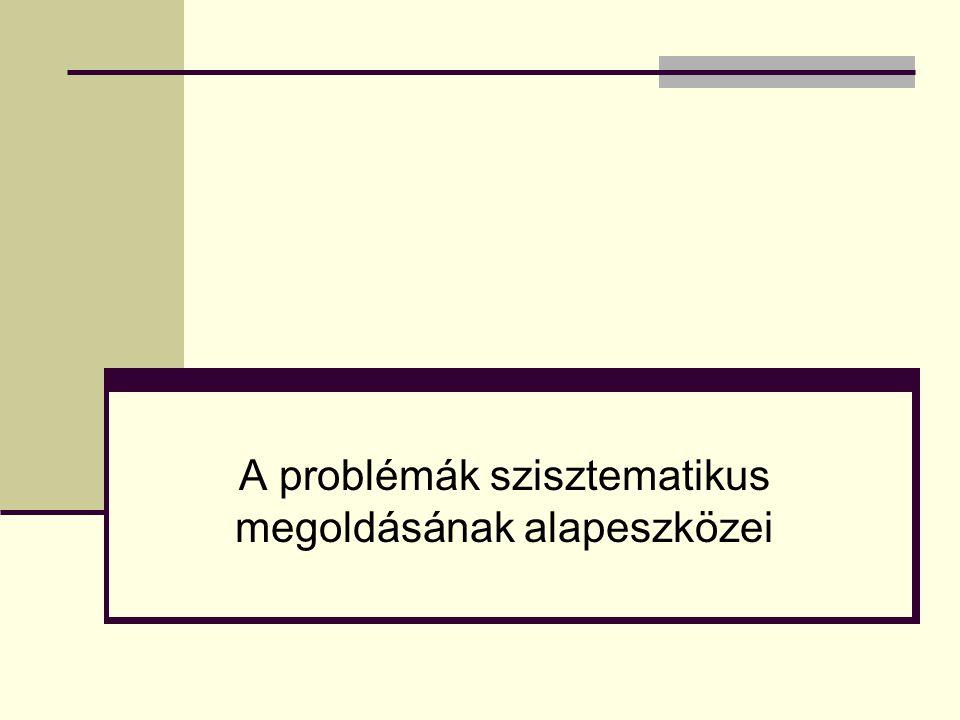 A problémák szisztematikus megoldásának alapeszközei