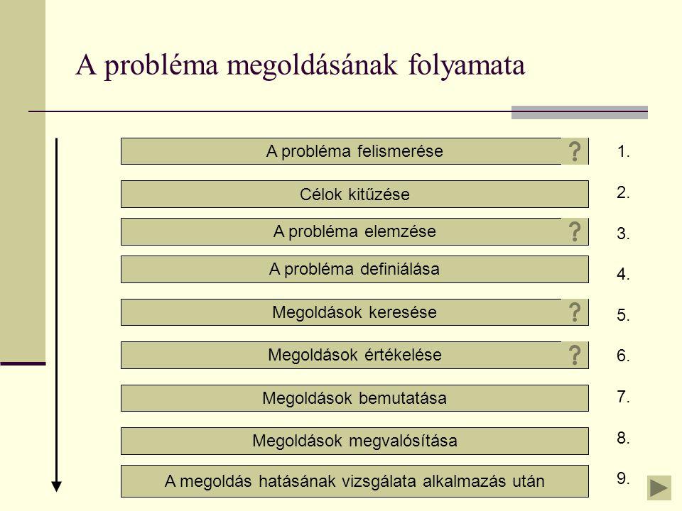 A probléma megoldásának folyamata