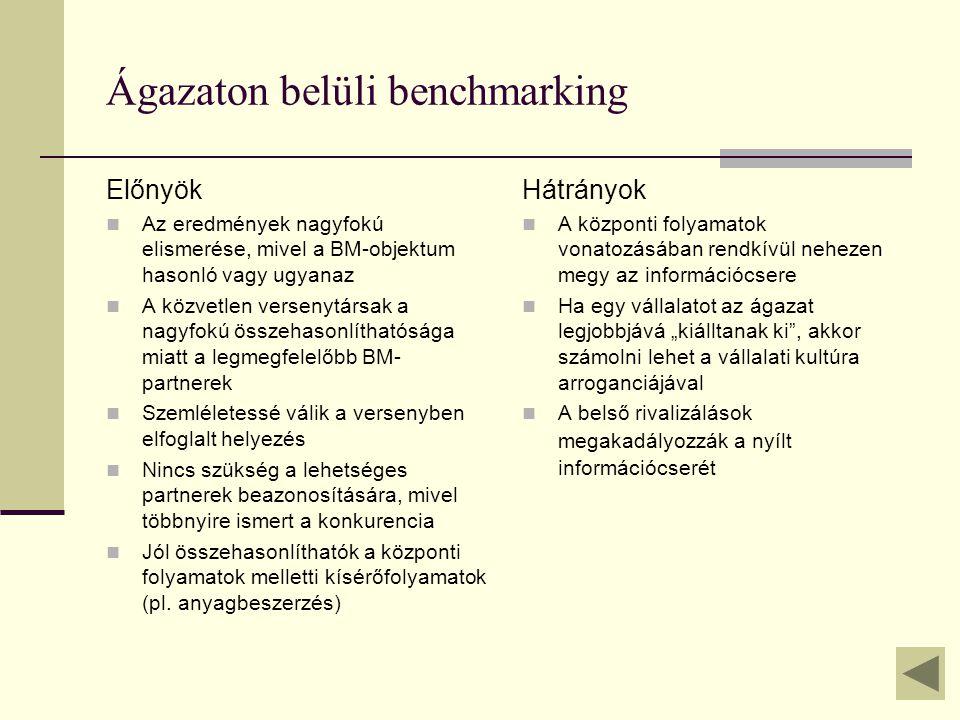 Ágazaton belüli benchmarking
