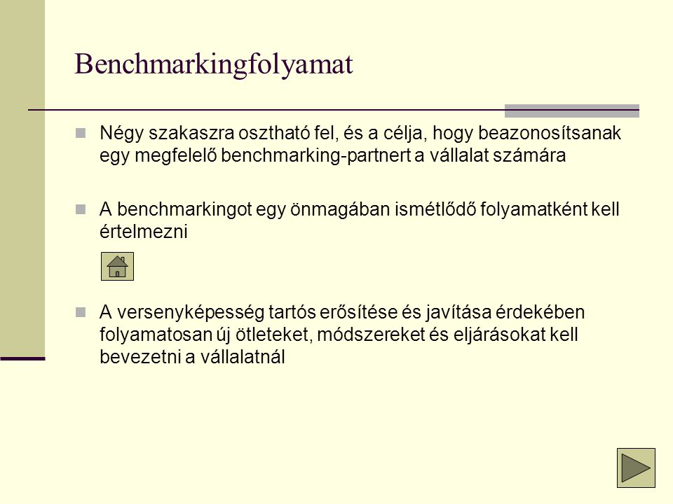 Benchmarkingfolyamat