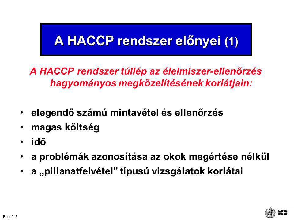 A HACCP rendszer előnyei (1)
