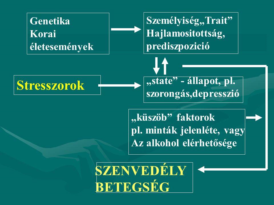 """Stresszorok SZENVEDÉLYBETEGSÉG Genetika Személyiség""""Trait"""