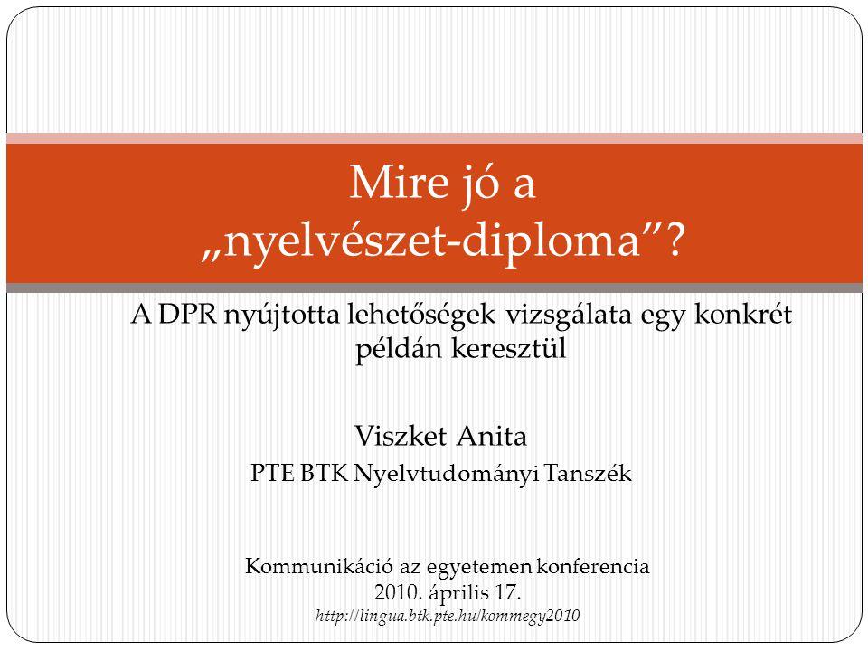 """Mire jó a """"nyelvészet-diploma"""