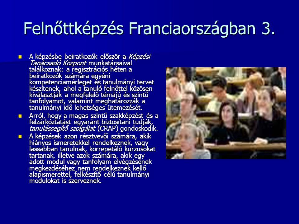 Felnőttképzés Franciaországban 3.