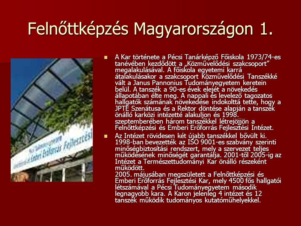 Felnőttképzés Magyarországon 1.