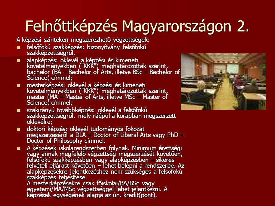 Felnőttképzés Magyarországon 2.