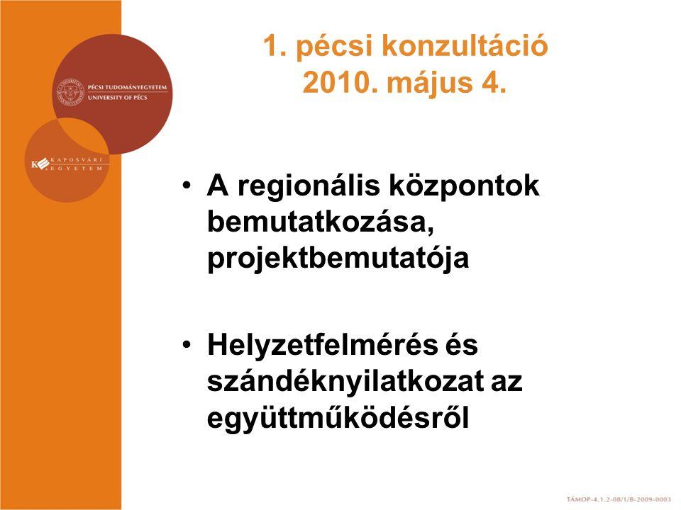 1. pécsi konzultáció 2010. május 4.