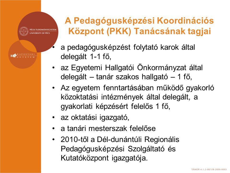 A Pedagógusképzési Koordinációs Központ (PKK) Tanácsának tagjai