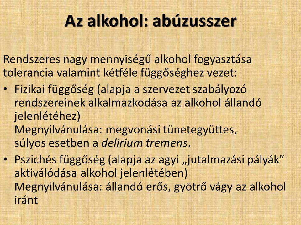Az alkohol: abúzusszer
