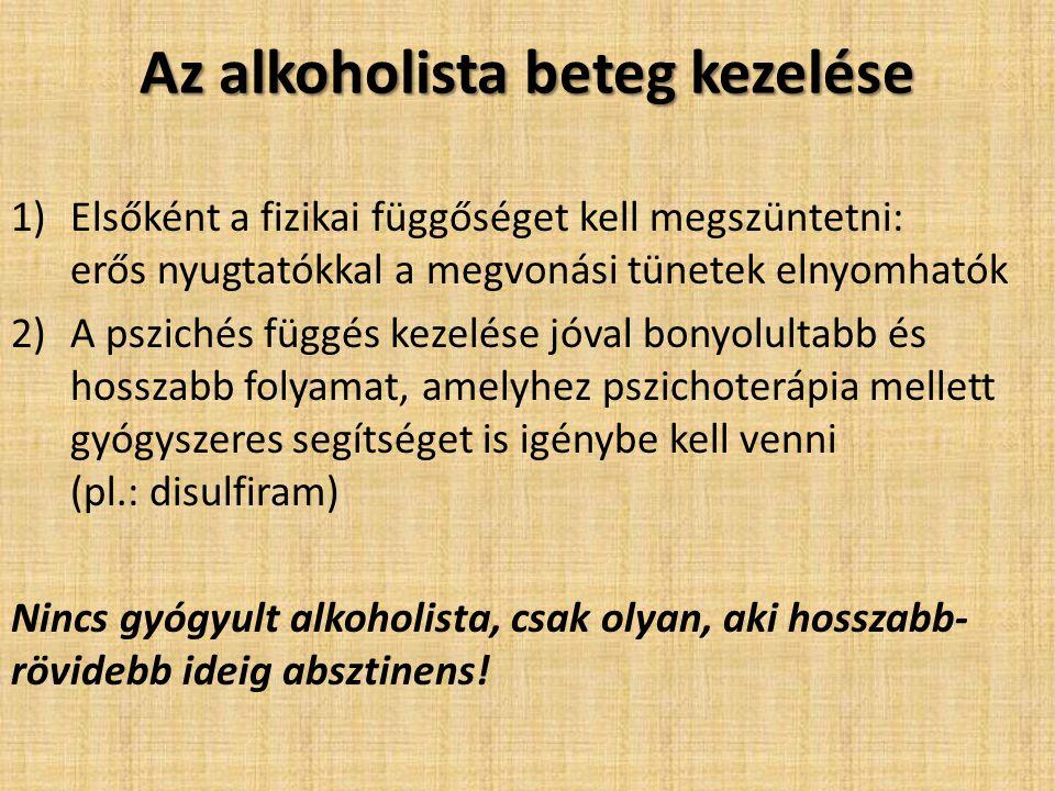 Az alkoholista beteg kezelése