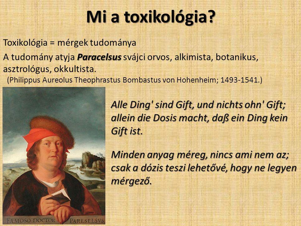 Mi a toxikológia