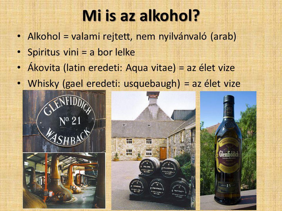 Mi is az alkohol Alkohol = valami rejtett, nem nyilvánvaló (arab)