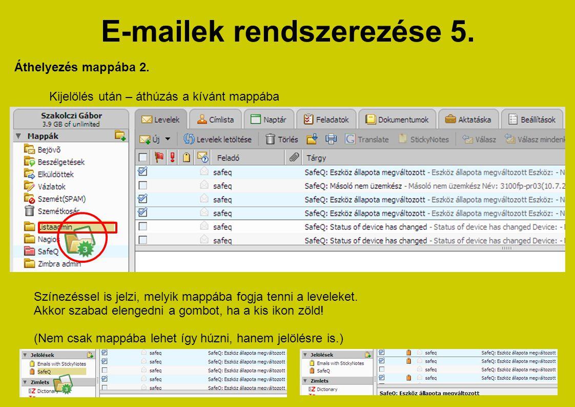 E-mailek rendszerezése 5.