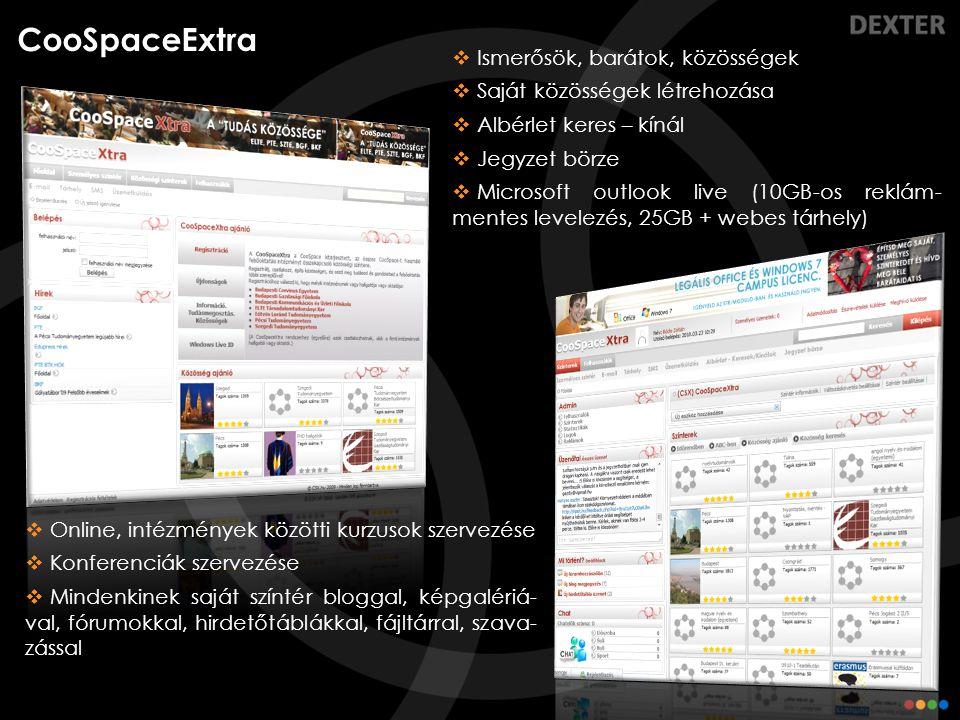 CooSpaceExtra Ismerősök, barátok, közösségek